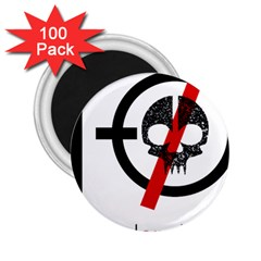 Twenty One Pilots Skull 2 25  Magnets (100 Pack)  by Onesevenart