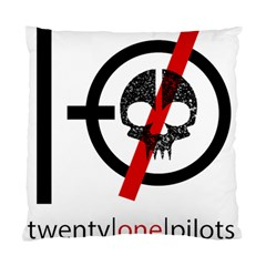 Twenty One Pilots Skull Standard Cushion Case (two Sides) by Onesevenart