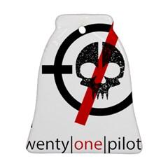 Twenty One Pilots Skull Bell Ornament (two Sides) by Onesevenart