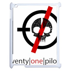 Twenty One Pilots Skull Apple Ipad 2 Case (white) by Onesevenart