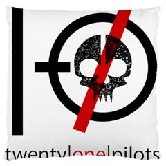 Twenty One Pilots Skull Large Cushion Case (one Side) by Onesevenart