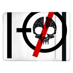 Twenty One Pilots Skull Samsung Galaxy Tab Pro 12 2  Flip Case by Onesevenart