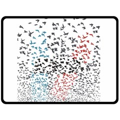 Twenty One Pilots Birds Double Sided Fleece Blanket (large)  by Onesevenart