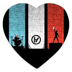 Twenty One 21 Pilots Jigsaw Puzzle (heart) by Onesevenart