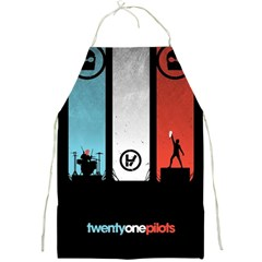 Twenty One 21 Pilots Full Print Aprons by Onesevenart