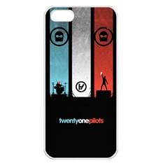 Twenty One 21 Pilots Apple Iphone 5 Seamless Case (white) by Onesevenart