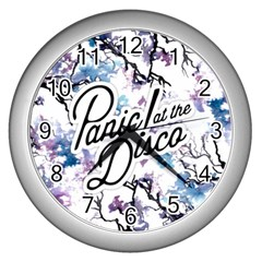 Panic! At The Disco Wall Clocks (silver)  by Onesevenart