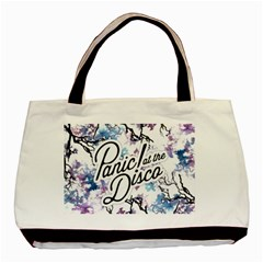 Panic! At The Disco Basic Tote Bag by Onesevenart