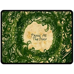 Panic At The Disco Double Sided Fleece Blanket (large)  by Onesevenart