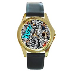 Panic! At The Disco College Round Gold Metal Watch by Onesevenart
