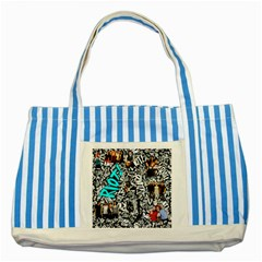 Panic! At The Disco College Striped Blue Tote Bag by Onesevenart