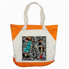 Panic! At The Disco College Accent Tote Bag by Onesevenart