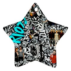 Panic! At The Disco College Star Ornament (two Sides) by Onesevenart