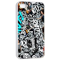 Panic! At The Disco College Apple Iphone 4/4s Seamless Case (white) by Onesevenart