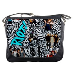 Panic! At The Disco College Messenger Bags by Onesevenart