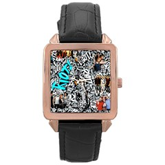 Panic! At The Disco College Rose Gold Leather Watch  by Onesevenart