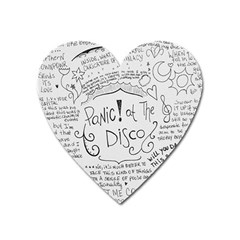 Panic! At The Disco Lyrics Heart Magnet by Onesevenart