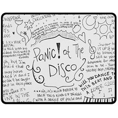Panic! At The Disco Lyrics Fleece Blanket (medium)  by Onesevenart