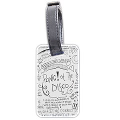 Panic! At The Disco Lyrics Luggage Tags (one Side)  by Onesevenart