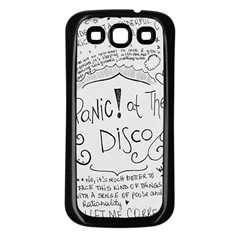 Panic! At The Disco Lyrics Samsung Galaxy S3 Back Case (black) by Onesevenart
