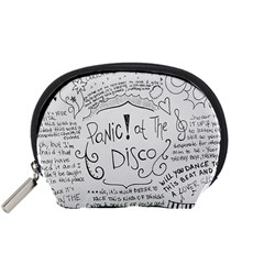 Panic! At The Disco Lyrics Accessory Pouches (small)  by Onesevenart