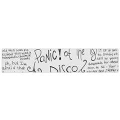 Panic! At The Disco Lyrics Flano Scarf (small) by Onesevenart