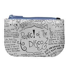 Panic! At The Disco Lyrics Large Coin Purse by Onesevenart