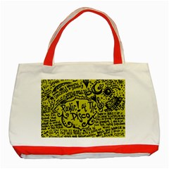 Panic! At The Disco Lyric Quotes Classic Tote Bag (red) by Onesevenart
