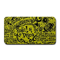 Panic! At The Disco Lyric Quotes Medium Bar Mats by Onesevenart