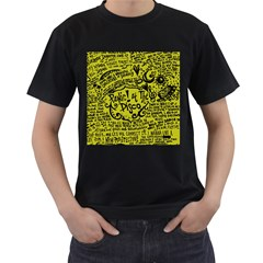 Panic! At The Disco Lyric Quotes Men s T Shirt (black) by Onesevenart