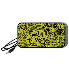 Panic! At The Disco Lyric Quotes Portable Speaker (black) by Onesevenart