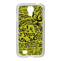 Panic! At The Disco Lyric Quotes Samsung Galaxy S4 I9500/ I9505 Case (white) by Onesevenart