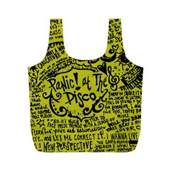 Panic! At The Disco Lyric Quotes Full Print Recycle Bags (m)  by Onesevenart
