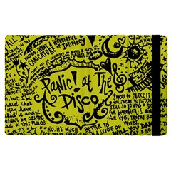 Panic! At The Disco Lyric Quotes Apple Ipad Pro 12 9   Flip Case by Onesevenart