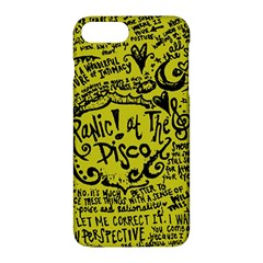 Panic! At The Disco Lyric Quotes Apple Iphone 7 Plus Hardshell Case by Onesevenart
