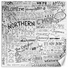 Panic At The Disco Lyrics Canvas 12  X 12   by Onesevenart