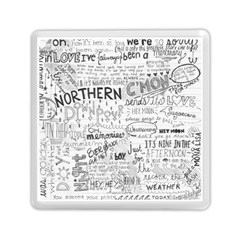 Panic At The Disco Lyrics Memory Card Reader (square)  by Onesevenart
