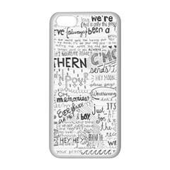 Panic At The Disco Lyrics Apple Iphone 5c Seamless Case (white) by Onesevenart