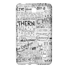 Panic At The Disco Lyrics Samsung Galaxy Tab 4 (8 ) Hardshell Case  by Onesevenart