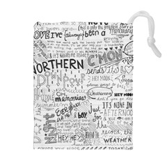 Panic At The Disco Lyrics Drawstring Pouches (extra Large) by Onesevenart