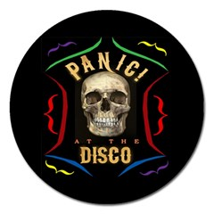 Panic At The Disco Poster Magnet 5  (round) by Onesevenart