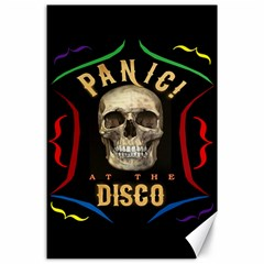 Panic At The Disco Poster Canvas 24  X 36  by Onesevenart