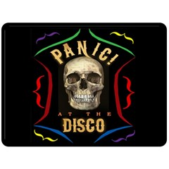 Panic At The Disco Poster Double Sided Fleece Blanket (large)  by Onesevenart