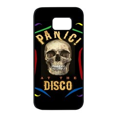 Panic At The Disco Poster Samsung Galaxy S7 Edge Black Seamless Case by Onesevenart