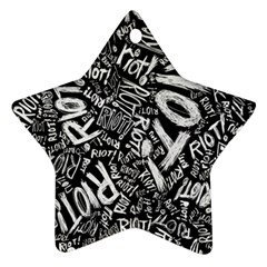 Panic At The Disco Lyric Quotes Retina Ready Ornament (star) by Onesevenart