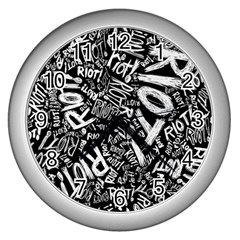 Panic At The Disco Lyric Quotes Retina Ready Wall Clocks (silver)  by Onesevenart