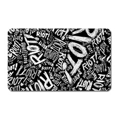 Panic At The Disco Lyric Quotes Retina Ready Magnet (rectangular) by Onesevenart