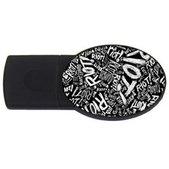 Panic At The Disco Lyric Quotes Retina Ready Usb Flash Drive Oval (4 Gb) by Onesevenart