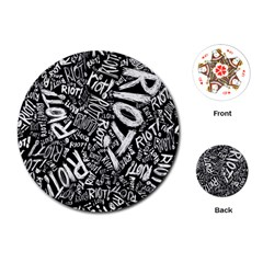 Panic At The Disco Lyric Quotes Retina Ready Playing Cards (round)  by Onesevenart