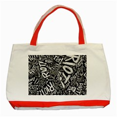 Panic At The Disco Lyric Quotes Retina Ready Classic Tote Bag (red) by Onesevenart